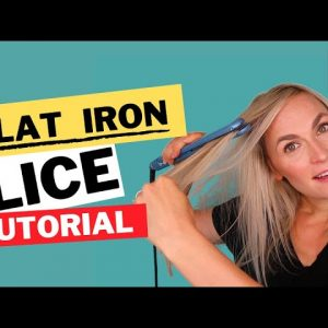 Flat Ironing For Lice Tutorial